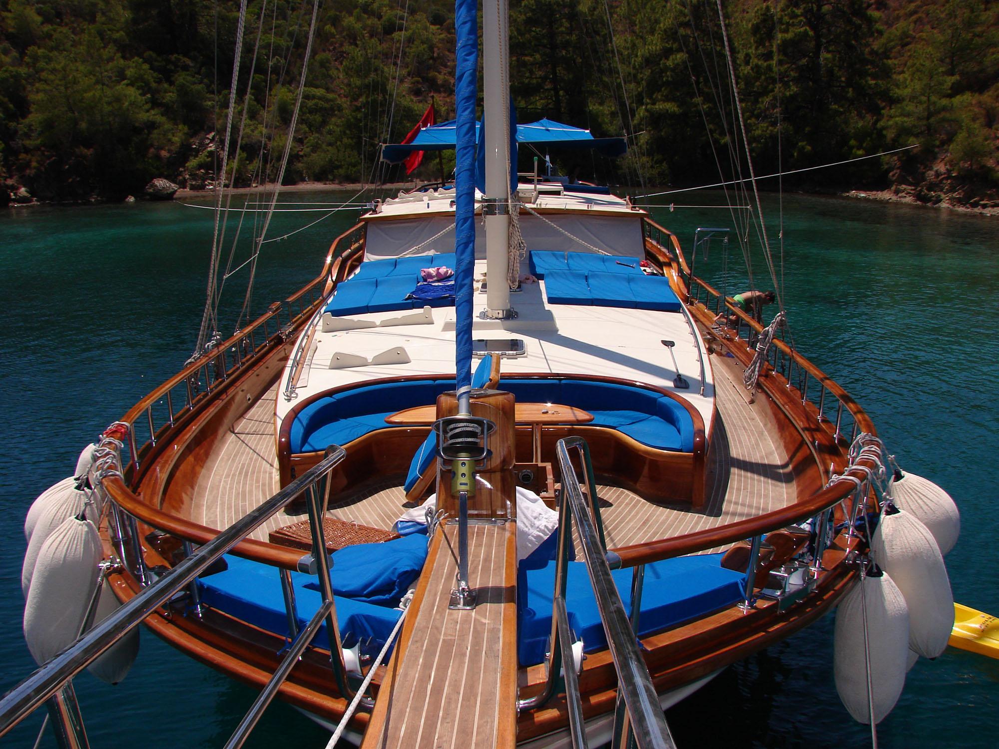 gulet deck sunny day