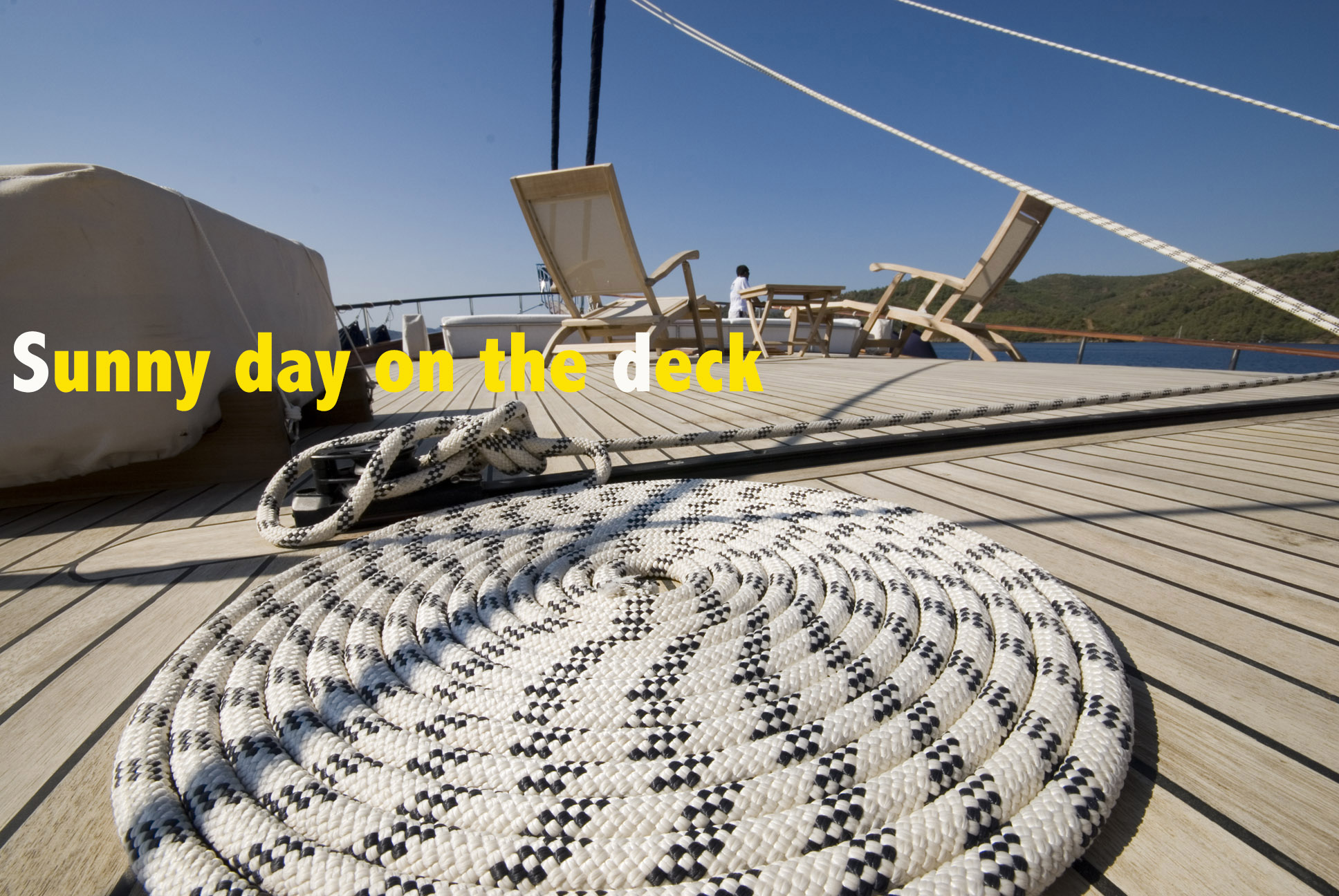 gulet deck on a sunny day