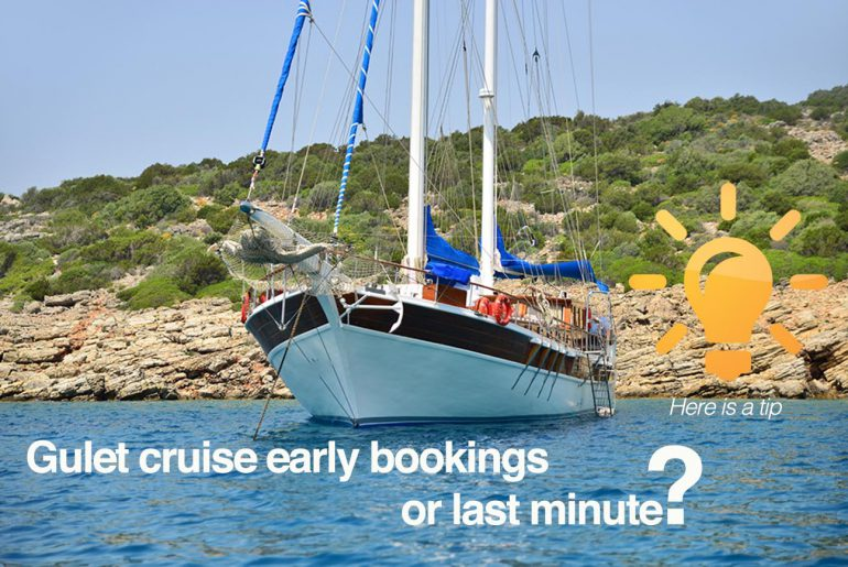 gulets early bookings or last minute