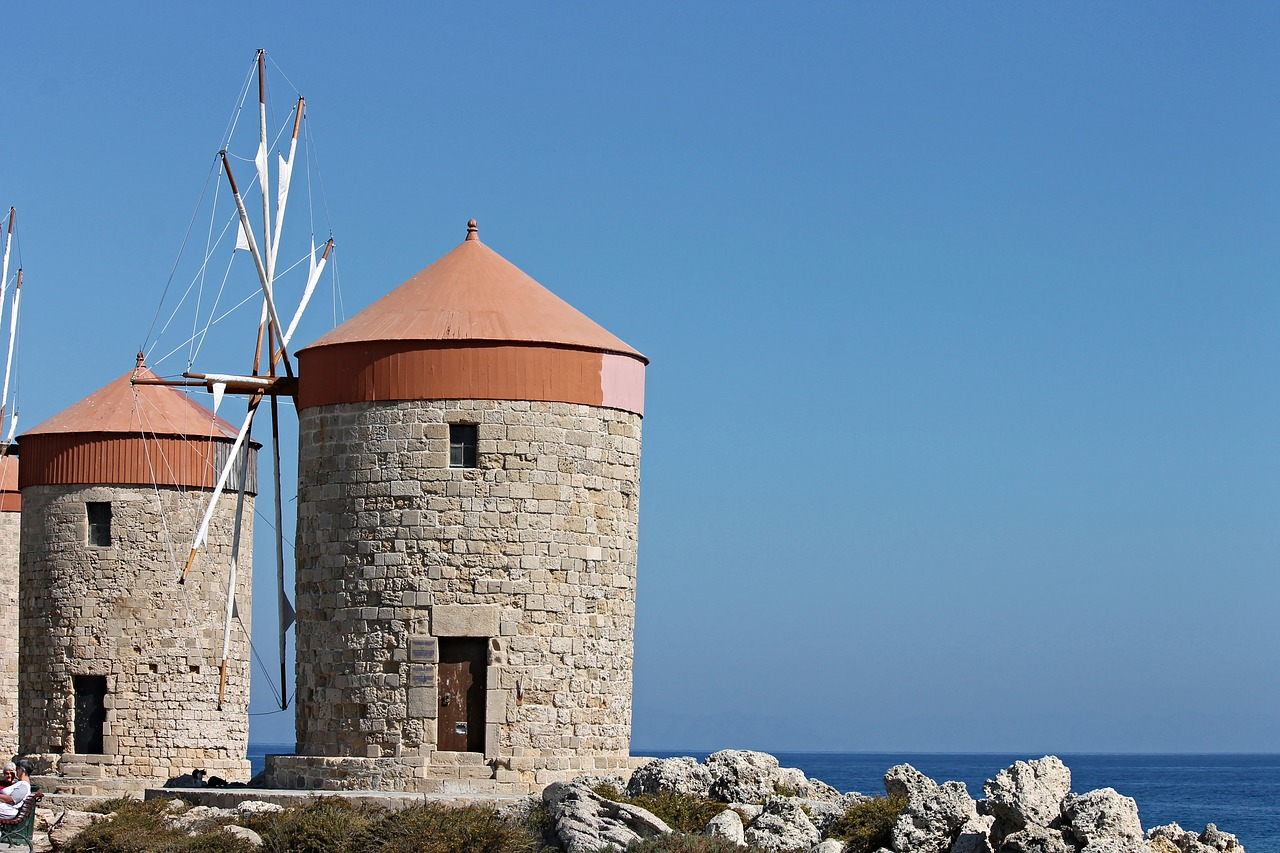 stone windmills turkey