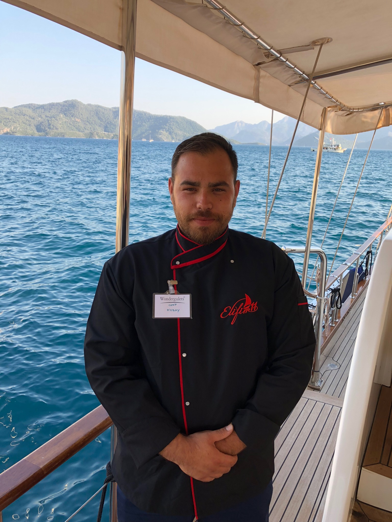 Chef Korey on luxury gulet turkey