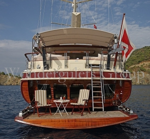 Luxury motorsailer WG TS 008 42.50mt cruises in Turkey